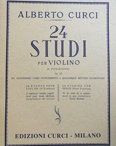 24 STUDI PER VIOLINO – I POSIZIONE OP.23 – ALBERTO CURCI EC4311