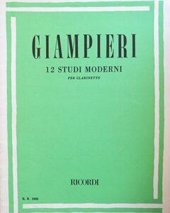 12 STUDI MODERNI PER CLARINETTO – GIAMPIERI ER1835