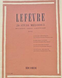 20 STUDI MELODICI – LEFEVRE per clarinetto, sassofono, clarinetto basso ER2468