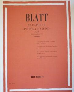 12 CAPRICCI IN FORMA DI STUDIO – BLATT ER2455
