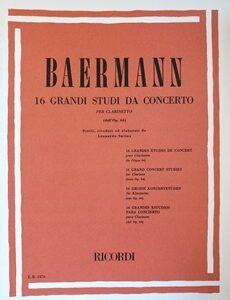 16 GRANDI STUDI DA CONCERTO PER CLARINETTO – BAERMANN ER2476
