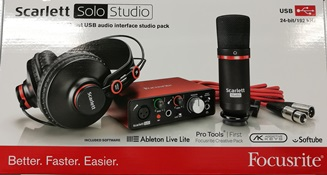 FOCUSRITE SCARLETT SOLO STUDIO PACK - (2ND GENERATION