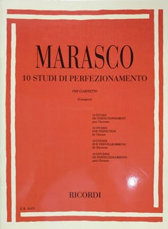 10 STUDI DI PERFEZIONAMENTO PER CLARINETTO – MARASCO ER1619