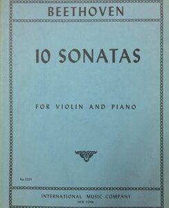 10 sonatas for violin and piano Beethoven