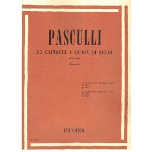 PASCULLI 15 CAPRICCI A GUISA DI STUDI ER2800